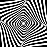 Abstract op art design. Lines pattern. Vector illustration Stock Images