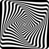 Abstract op art design. Lines pattern. Vector illustration Stock Image