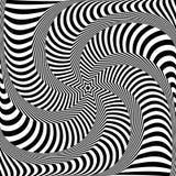 Abstract op art design. Lines texture. Vector illustration Stock Photo