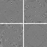 Abstract op art patterns. Royalty Free Stock Image