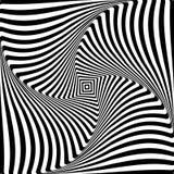 Abstract op kunst grafisch ontwerp Illusie van de beweging van de torsieomwenteling royalty-vrije illustratie