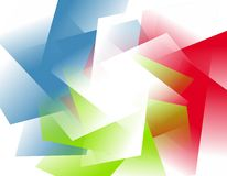 Abstract Opaque RGB Shapes Background Royalty Free Stock Photography