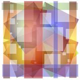 Abstract Opaque Squares Colors royalty free stock image