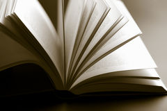 Abstract open book. Shallow focus Stock Photo