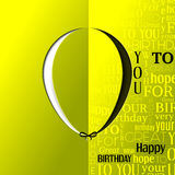 Abstract open card. Balloon and wishes for Stock Photo