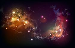 Abstract open space background. Starfield, universe, nebula in galaxy Royalty Free Stock Photos