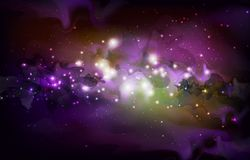 Abstract open space background. Starfield, universe, nebula in galaxy Stock Images