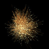 Abstract optical fiber glitter light effect on black background. Royalty Free Stock Photo