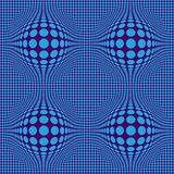 Abstract Optical illusion Op art with blue dots on an bordeaux background royalty free illustration