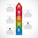 Abstract opties infographic malplaatje voor bedrijfspresentaties of informatiebanner Infographics in de vorm van een gevouwen rib Stock Foto's