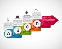Abstract opties infographic malplaatje voor bedrijfspresentaties of informatiebanner Infographics in de vorm van een gevouwen rib Royalty-vrije Stock Fotografie