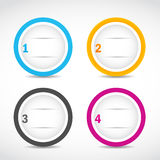 Abstract option circles Royalty Free Stock Image