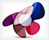 Abstract option infographic - glass round shapes Royalty Free Stock Photography
