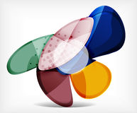 Abstract option infographic - glass round shapes Royalty Free Stock Image