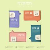 Abstract option infographics Stock Image