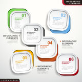 Abstract option infographics royalty free illustration
