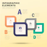 Abstract option infographics Royalty Free Stock Photos