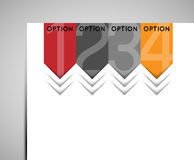 Abstract option sign arrows Stock Image