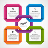 Abstract options infographics. Design template origami style options banner. Vector illustration Stock Photos