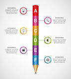 Abstract options infographics design template. Vector illustration Stock Photography