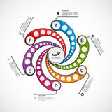 Abstract options infographics design template. Vector illustration Stock Photos