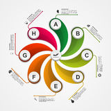 Abstract options infographics design template. Vector illustration Royalty Free Stock Images