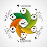 Abstract options infographics design template. Vector illustration Royalty Free Stock Photography