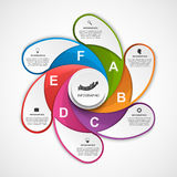 Abstract options infographics design template. Vector illustration Stock Image