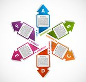 Abstract options infographics template with arrows. Stock Images