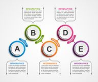 Abstract options infographics template. Infographics for business presentations or information banner. Stock Images