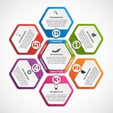 Abstract options infographics template. Infographics for business presentations or information banner. Vector illustration Royalty Free Stock Photography