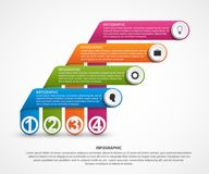 Abstract options infographics template with ribbons. Vector illustration Royalty Free Stock Photo