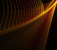 Abstract Orange. And yellow lines Royalty Free Stock Photo