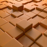 Abstract Orange 3D Blocks Background Royalty Free Stock Image