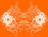 Abstract orange background. Illustration of abstract orange background Royalty Free Stock Photo
