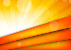Abstract orange background. With rays and circles Royalty Free Stock Photos