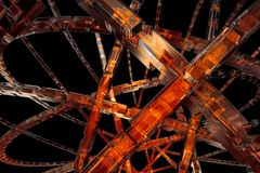 Abstract  orange background. Abstract 3D cog wheel available for background Royalty Free Stock Photography