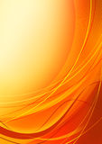 Abstract orange background. Elegant abstract orange background with waves Royalty Free Stock Photo