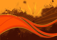Abstract orange background. An illustrated grunge background with orange and brown abstract designs. Available in vector format Royalty Free Stock Photos