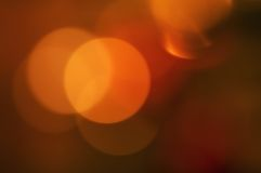 Abstract orange background with blurred circles Stock Image