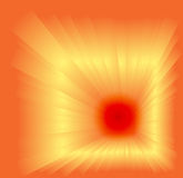 Abstract orange background with burst light rays Royalty Free Stock Photos
