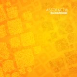 Abstract orange background with cubes mosaic Royalty Free Stock Image