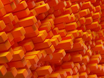 Abstract orange background. Abstract background made of orange cubes Royalty Free Stock Image