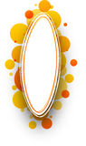 Abstract orange background. Paper white abstract background with orange bubbles. Vector illustration Stock Images