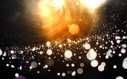 Abstract orange background with particles mesh Royalty Free Stock Photos
