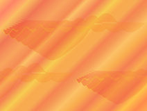 Abstract orange background with red and yellow strikes and ornaments. Stock Image