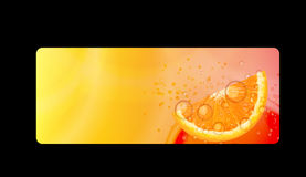 Abstract Orange Background Vector Iillustration. On Black Background. EPS10 Stock Illustration