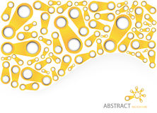 Abstract orange background. Vector illustration Royalty Free Stock Images