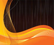 Abstract orange background with waves Royalty Free Stock Photo