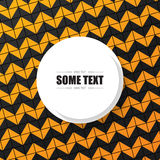 Abstract orange background with white round text box. Vector Royalty Free Stock Image
